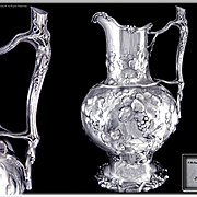 J. E CALDWELL & Co - Rare & Impressive Antique American Solid Silver Water Pitcher or Jug (Capacity +2L.)