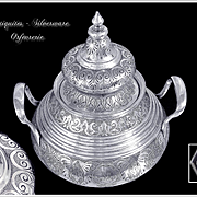 Constant Révil - Antique French Sterling Silver Sugar bowl in the Ottoman Style. Minerve