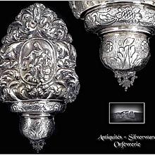 Genova 17th.c  Antique Italian Sterling Silver Stoup Louis XIV era