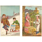 Victorian Advertising Trade Cards - Gilbert S. Graves Starch - Buffalo, NY