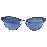 Art Craft Aluminum Cat Eye Browline Eyeglasses