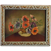 Anemone Print in Art Deco Frame