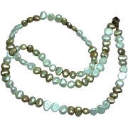 Pearl Freshwater Champagne Beige Golden White Necklace