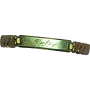 Josten Plague Engraved Patsy Nameplate Gold Filled Spidel Style ID Bracelet