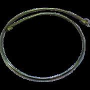 Wonderful Gold Tone Omega Necklace