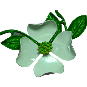 Enchanting Enamel Metal Flower Brooch Pin