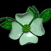 Enchanting Enamel Metal Flower Brooch Pin