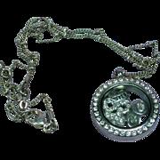 Crystal Locket Rhinestones Keepsake Pendant Necklace