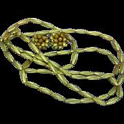 Fabulous Vendome Russian Gold-Plate Metal Beads Necklace Earrings Demi Parure Set