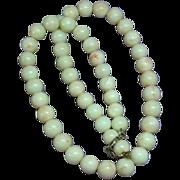 Vintage Natural Angel Skin Coral Beaded Necklace