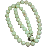 Vintage Natural Angel Skin Coral Beaded Necklace
