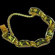 Vintage Japanese Amita Damascene Link Bracelet