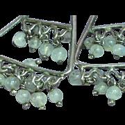 Genuine Gemstones Gorgeous Labradorite and Sterling Silver Dangle Pierced Earrings