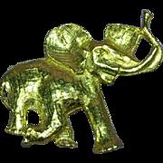 Republican Elephant Gold Tone Happy Good Luck Pin Brooch
