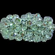 Vintage  Aurora Borealis Crystal Cha Cha Expandable Bracelet
