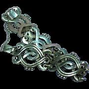 Vintage Sterling Silver 925 Mexican Link Superior Bracelet