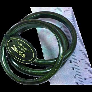 Bakelite Marblette Set of Three End of Day Bangle Bracelets