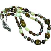 Naga Necklace Northeast India, Nagaland, Naga People Striking Tiger Eye Beads Necklace