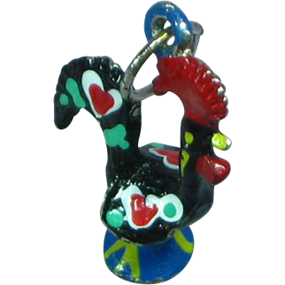 Hand Painted Rooster Charm
