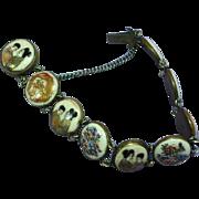 Japanese Hand Painted Satsuma Porcelain Bracelet