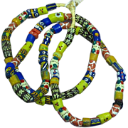 Authentic African Ghanaian African Tribal Trade Bead Necklace