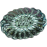 Birk Signed Sterling Silver Filigree Oval Pin Brooch