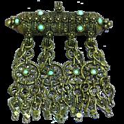 Islamic Silver Cannetille Filigree Amulet Estate Yemenite Necklace Pendant