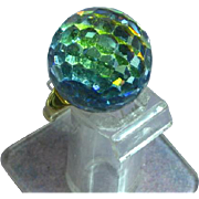 Vendome  Large Crystal Adjustable Gold Tone Ring