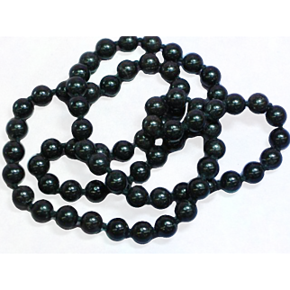 Stunning Natural Hand Rounded Black Onyx Hand Tied Bead Necklace