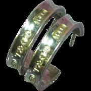 Tiffany T&CO Sterling Silver Hoop Post Pierced Earrings