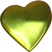 Victorias Secret Large Brushed Goldtone Heart Pin Brooch