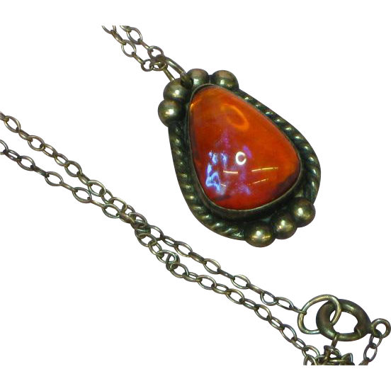 Dragons Breath Sterling Silver Pendant Necklace