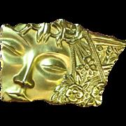 50% OFF SALE J.J. Sleeping Beauty Gorgeous Face Brooch Pin