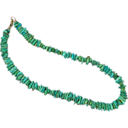 Native American Indian Beautiful, Blue, Green Turquoise Chunks Necklace