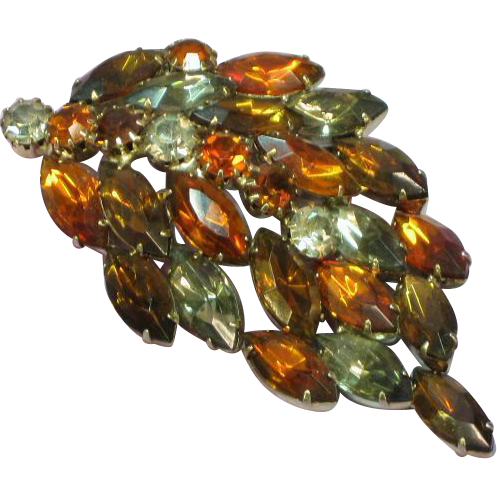 Juliana D&E Irresistible Smoke and Flames Rhinestones Brooch Pin