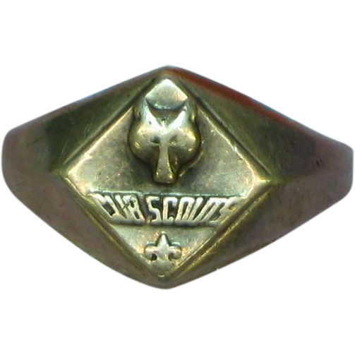 50% OFF SALE Boy Scouts Vintage 1950's Cub Scouts of America Sterling Silver Ring
