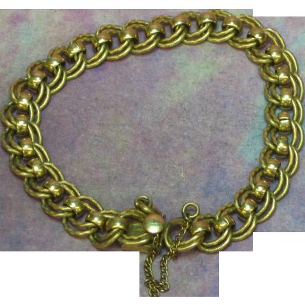 Gold Filled Double Link Starter Charm Bracelet