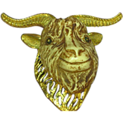 Razza Dramatic 3-Dimensional Giant Ram Resin Head Pendant