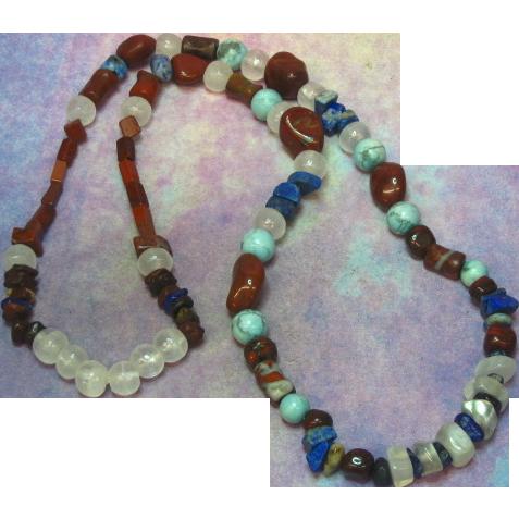 """Gemstones Chunky Chinese Turquoise Onyx Lapis Agate 24"""" Southwest Necklace"""