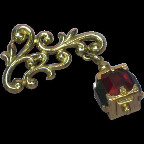 Pennino Brothers Lantern Unmarked  Brooch Pin