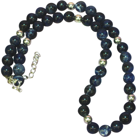 Gemstones Lapis Lazuli and Sodalite Beaded Necklace