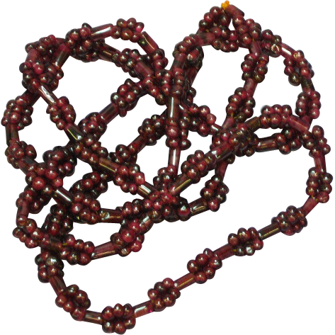 Gemstones Genuine Garnet Long Beaded Necklace