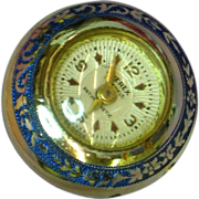 Champleve Blue Enamel with Silver Inlay Pendant Ball Watch