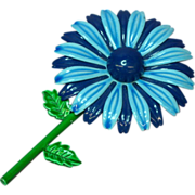 Enamel Metal Flower Power Brooch Pin