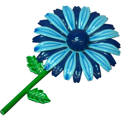 Enamel Metal Flower Power Brooch Pin