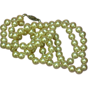 "Pearls Classic High Quality Glass Long 28"" Strand Hand Knotted Necklace"