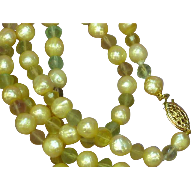 "SALE! Deep Luster South Sea Faceted Cultured Pearl and Faceted Gemstones 24"" Necklace"