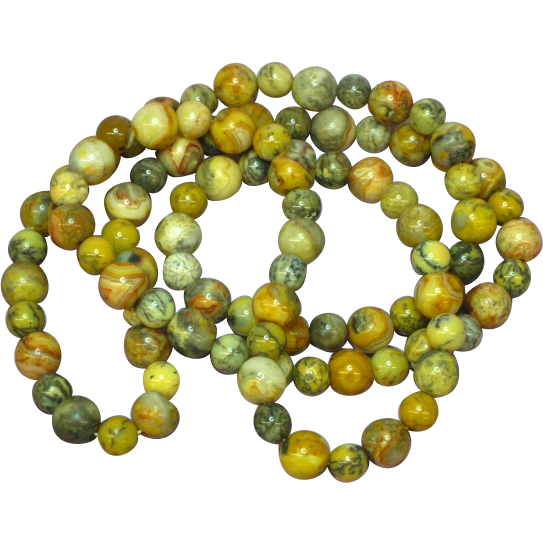 "Fancy Natural Stone Vegetable Jasper Indian Agate  26"" Bead Necklace"