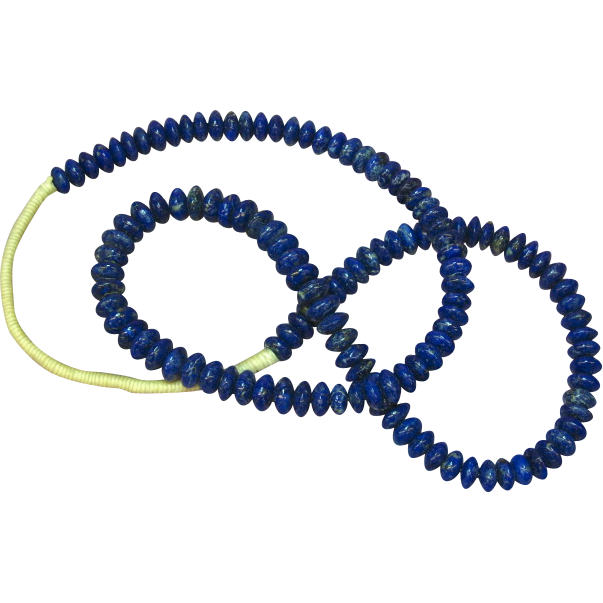 "Native American Indian Royal Blue True Natural Pyrite Loaded Lapis Lazuli 27"" Bead Necklace"