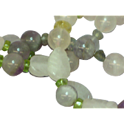 "Gemstones Mixed Size and Shape Labradorite Citrine Rose Quartz Amethyst  24"" Necklace"